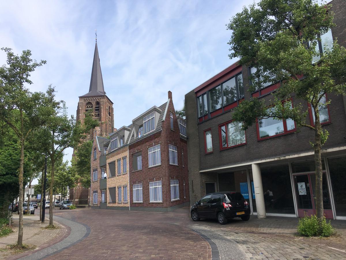 Een impressie van de nieuwbouw op de 'locatie-Mensink' in Moergestel.