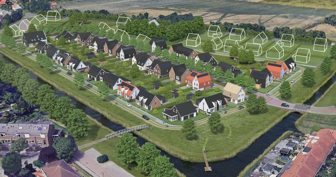 Op de artist impression is Claverveld al een hele groene wijk.