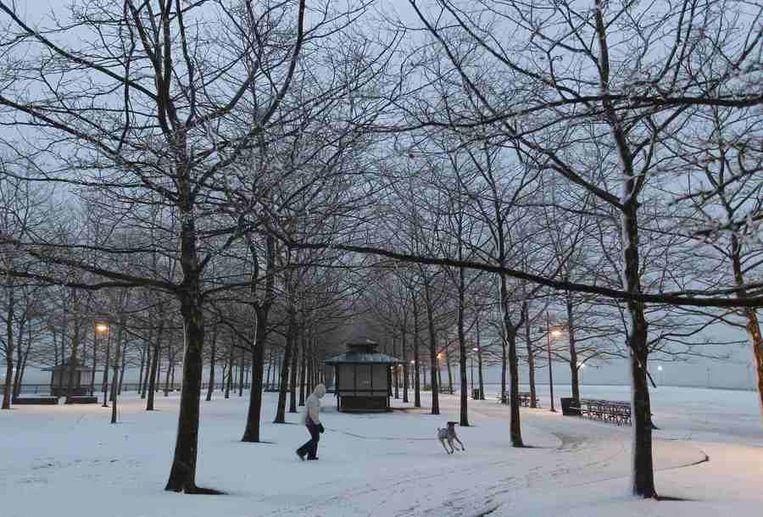 Een park in Hoboken, New Jersey. Beeld reuters