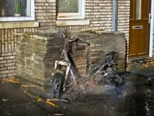 Scooter verwoest door brand in Valkenswaard