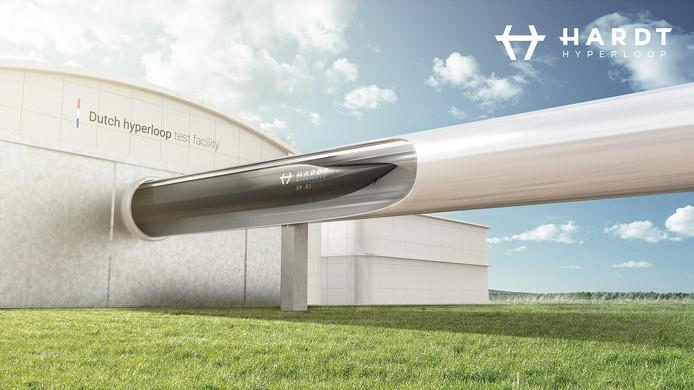 Hardt Hyperloop in Delft heeft nieuwe impressies laten maken van hoe een eventuele testfaciliteit bij Lelystad Airport eruit kan komen te zien.