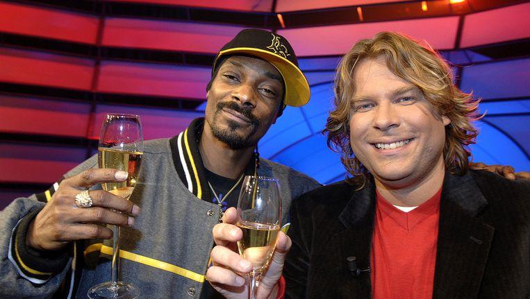 De talkshow van Robert Jensen in betere tijden: Rapper Snoop Dogg was in 2007 te gast bij Jensen. Beeld ANP