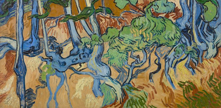Boomwortels, Vincent van Gogh. Beeld Van Gogh Museum