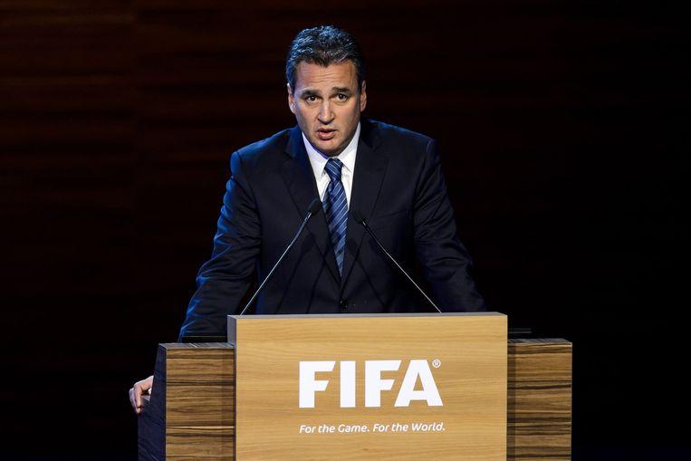 Michael Garcia, de advocaat die het onderzoek naar corruptie binnen de FIFA uitvoerde. Beeld belga