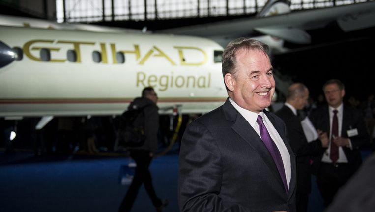 Directeur James Hogan van luchtvaartmaatschappij Etihad uit Abu Dhabi. Beeld epa