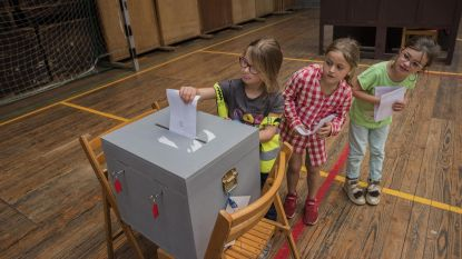 Ook leerlingen Klavertje Drie trekken naar stembus