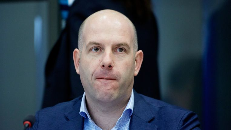 KNVB-directeur Gijs de Jong maandag in de Tweede Kamer. Beeld ANP