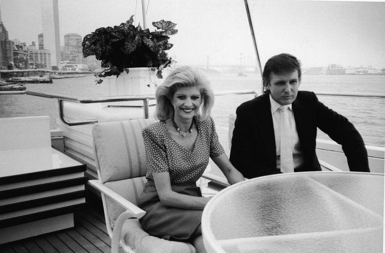 Ivana en Donald Trump op het jacht dat in Makkum werd verbouwd Beeld Tom Gates/Getty