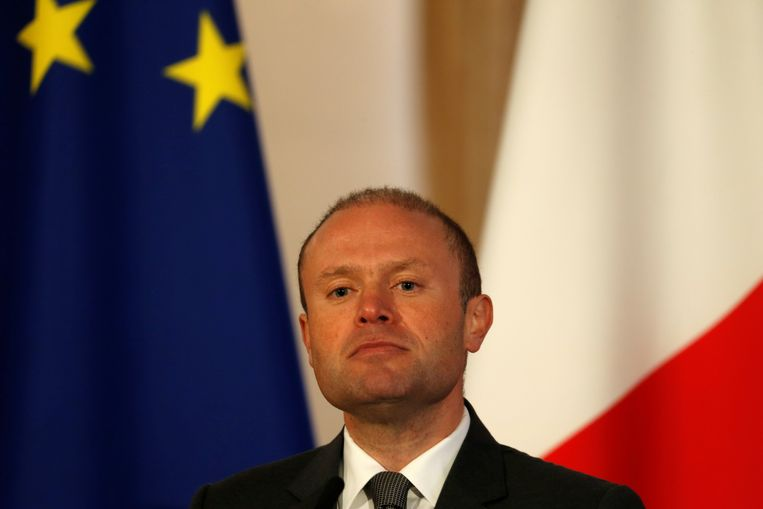 Malta's premier Joseph Muscat gaat door met zijn smaadzaak Beeld REUTERS