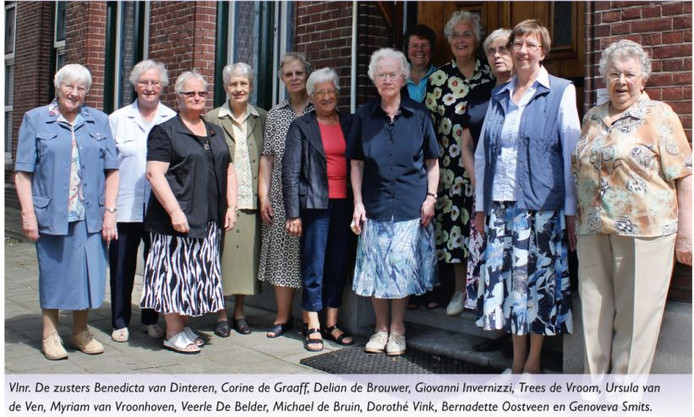 Tot voor enkele jaren woonden er nog twaalf zusters in Klooster Nieuwenhof.