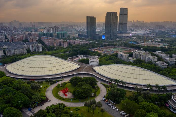 De stad Guangzhou in de provincie Guangdong