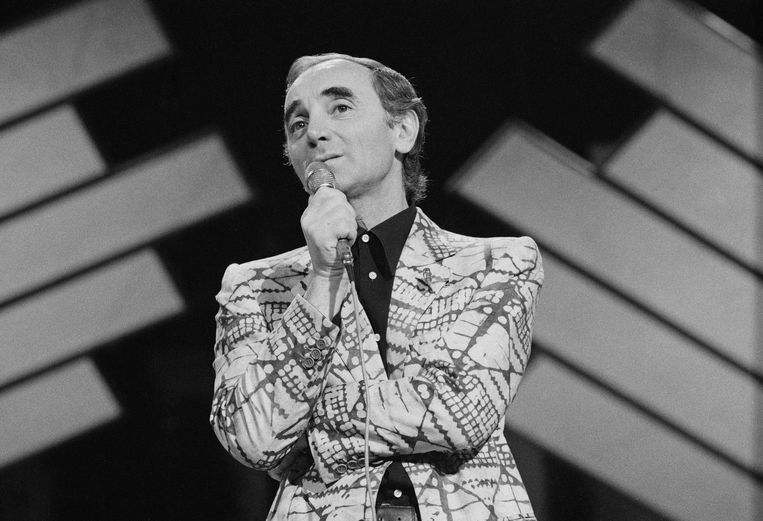 Charles Aznavour in 1975. Beeld Getty Images