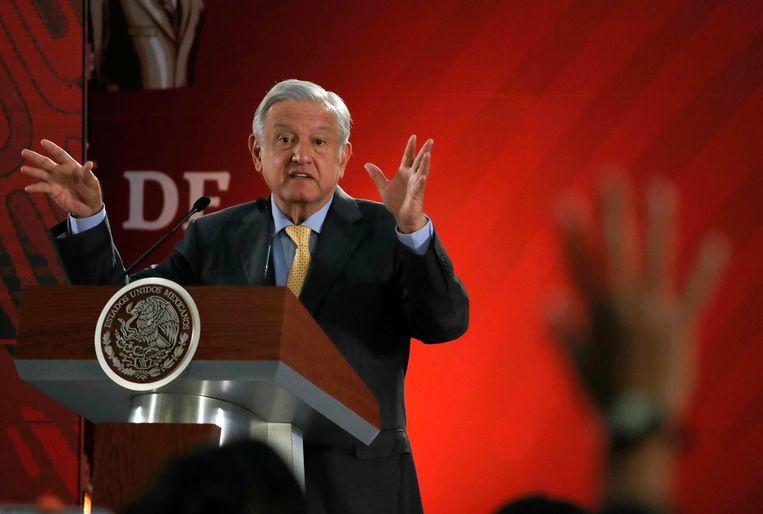 De Mexicaanse president Andres Manuel Lopez Obrador.