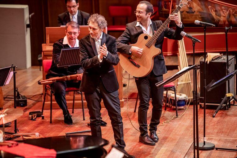 Música Temprana in TivoliVredenburg, Utrecht, met vooraan artistiek leider Adrián Rodríguez Van der Spoel. Beeld Foppe Schut