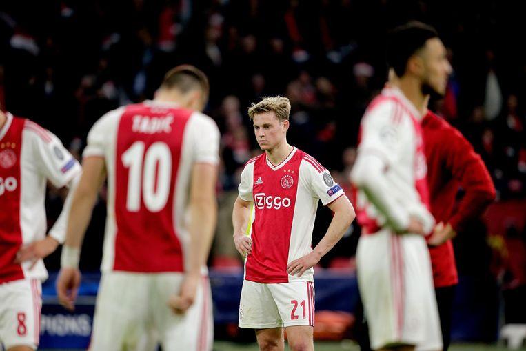 Frenkie de Jong na de wedstrijd tegen Tottenham Hotspur. Beeld null