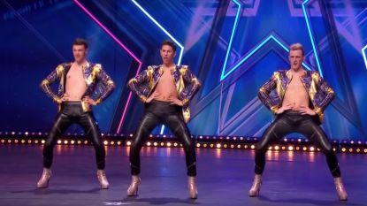 Belgische mannen op hoge hakken staan in finale van 'Holland's Got Talent'