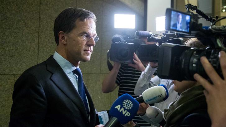 Rutte heeft geen zin in journalisten na debat