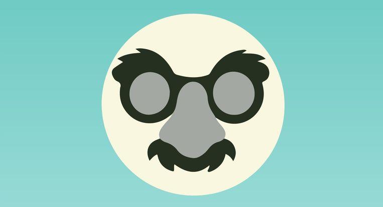 'Deze emoji stelt een verborgen gezicht voor. Ik zou hem gebruiken als ik iets te verbergen heb, of een grapje of wil maken. Zo van: ik vertel het niet, ik heb een geheim.' Beeld Emoji Voter