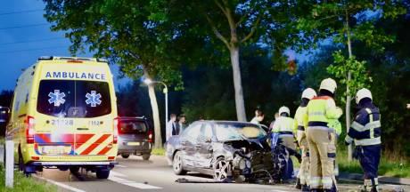 Auto botst tegen busje en klapt op boom in Boxmeer: bestuurder zwaar gewond