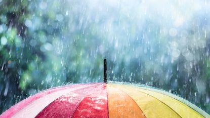 Felle regenbuien en zelfs kans op onweer, maar daarna klaart het op