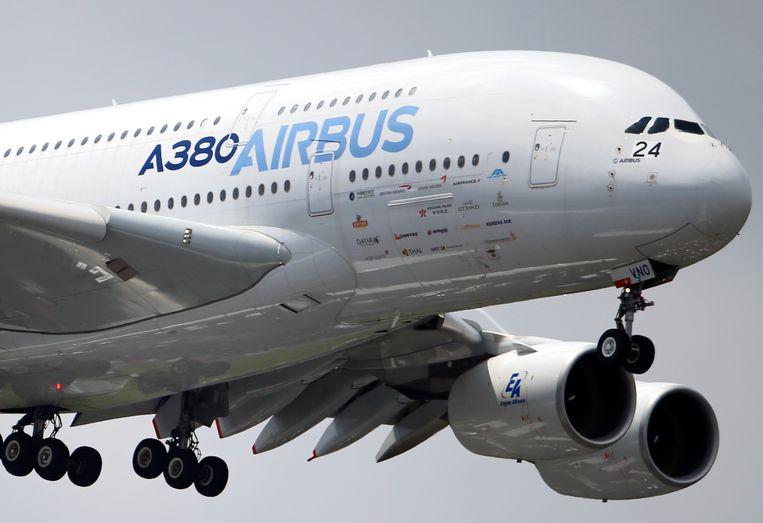 De Airbus A380 is 's werelds grootste passagiersvliegtuig.