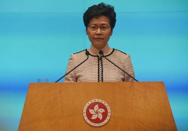De leider van Hongkong, Carrie Lam. Beeld EPA