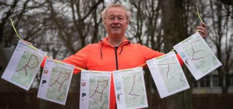 Zes marathons in twaalf weken: Raaltenaar Hans Groen zet zijn woonplaats letterlijk op de kaart