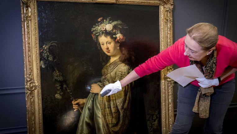 Rembrandts Flora is voor het eerst in eeuwen weer in Amsterdam te zien. Beeld anp