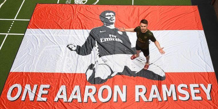 Laatste trainingsdag van Ramsey bij Arsenal.