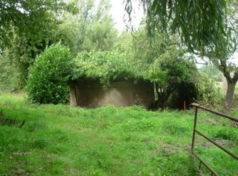 In 2010 was de bunker nog volledig overwoekerd.