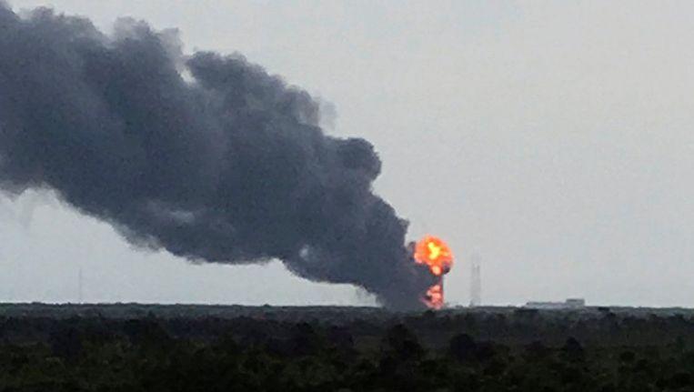 De ontploffing van de raket in de Amerikaanse staat Florida, afgelopen week.