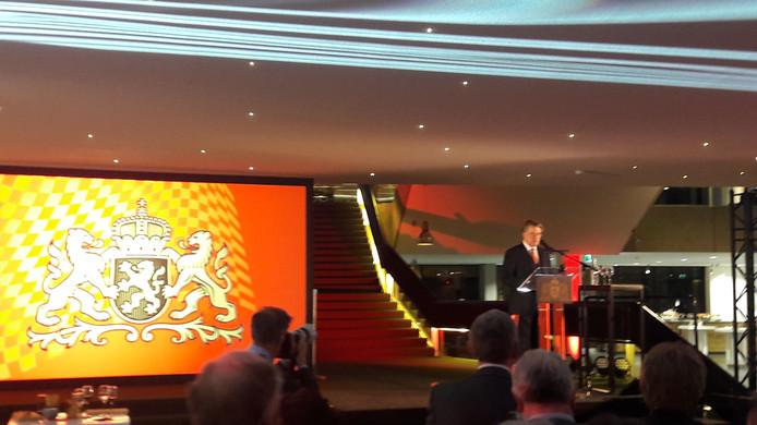 Commissaris van de koning Wim van de Donk tijdens zijn nieuwjaarstoespraak in het Brabantse Provinciehuis