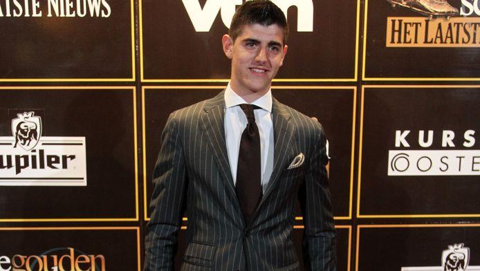 Thibaut Courtois op het Gala van de Gouden Schoen, waar hij Miss Limburg leerde kennen.