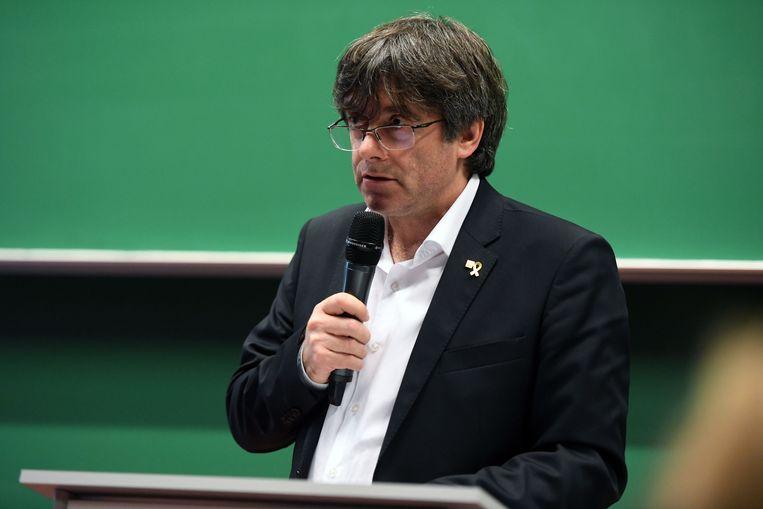 Carles Puigdemont kwam praten over de Catalaanse kwestie.