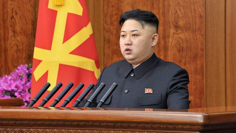 De Noord-Koreaanse leider Kom Jong-Un. Beeld epa