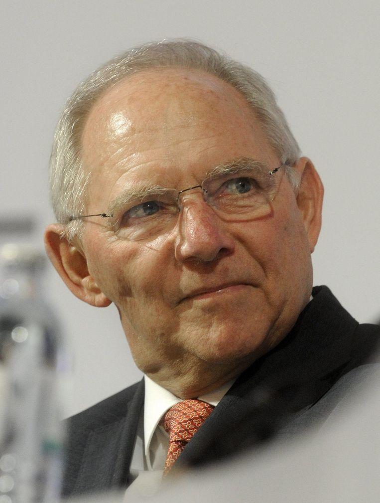 De Duitse minister van financiën Wolfgang Schäuble. Beeld epa
