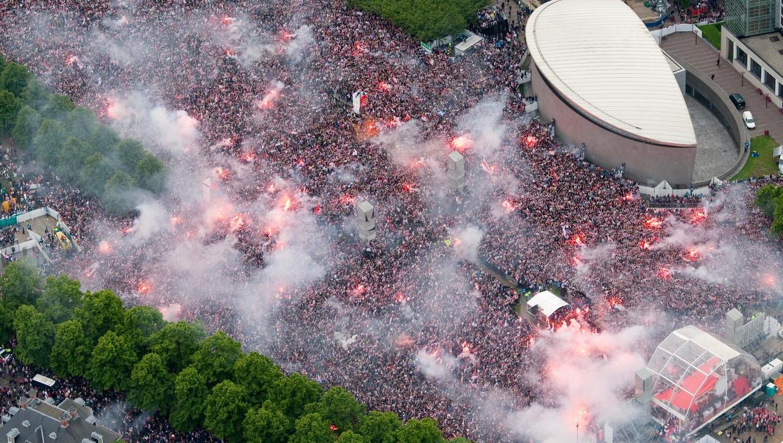 In 2011 werd Ajax voor het laatst gehuldigd op het Museumplein