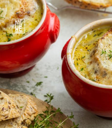 Wat Eten We Vandaag: Franse uiensoep