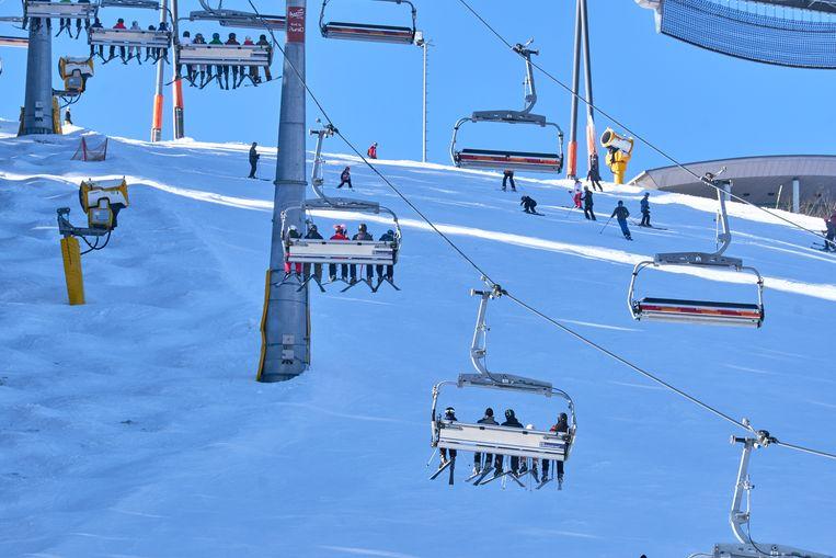 Een skilift in Winterberg.