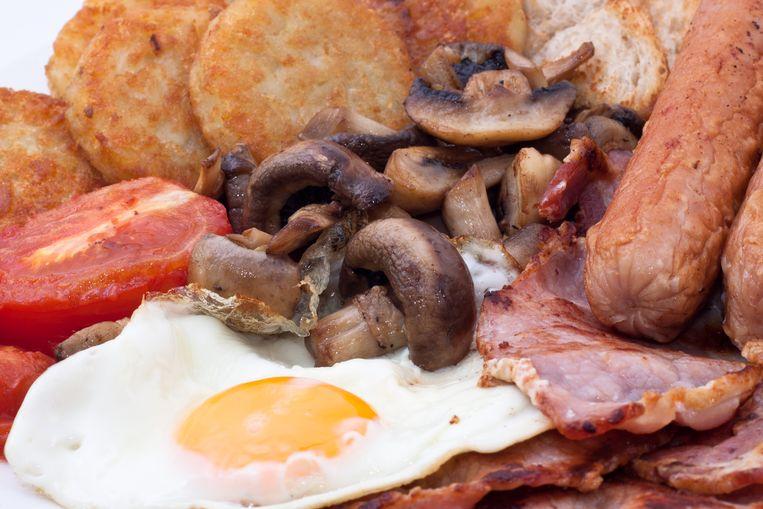Brexyt-ontbijt Beeld