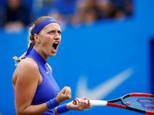 Kvitova pakt maand na comeback titel in Birmingham
