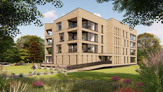 De impressie van hoe de vijftien appartementen in Gilze Parkdeel er uit kunnen gaan zien.