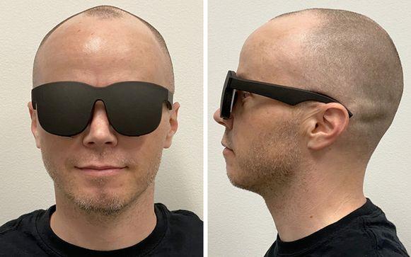 De bril is volgens Facebook lichter en comfortabeler dan de bestaande VR-brillen.