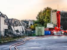 Grote brand Tuf Recycling Dongen onder controle, nablussen gaat nog enkele dagen duren