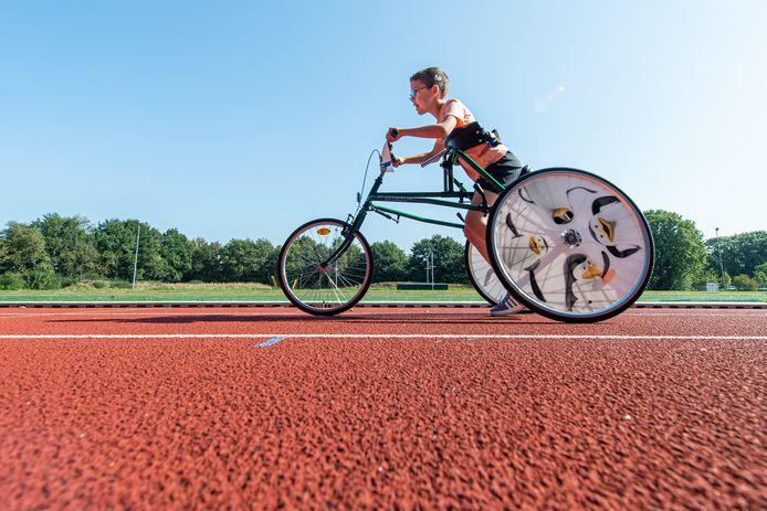 Clinic RaceRunning bij Scorpio in Oosterhout. De 9-jarige Sjoerd in actie.
