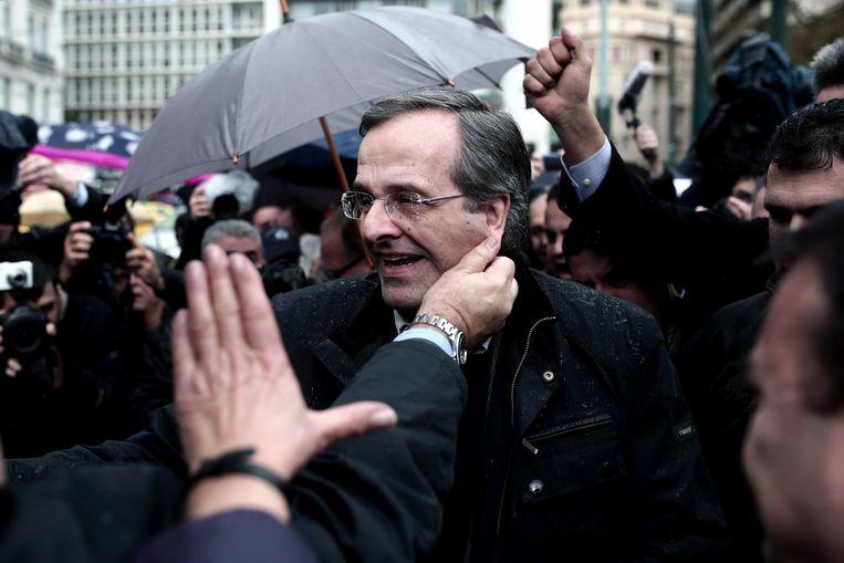 De Griekse premier Antonis Samaras. Beeld afp