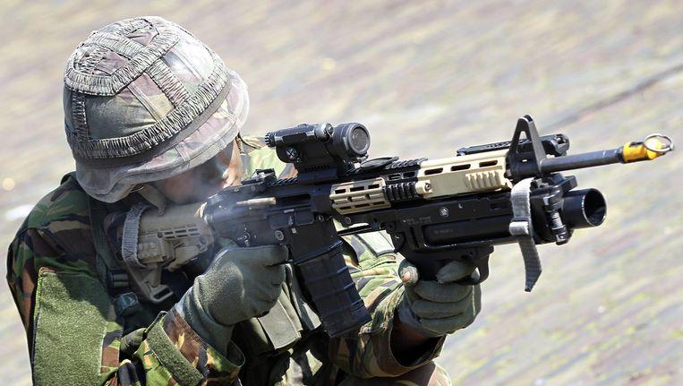 Een militair. (archiefbeeld) Beeld ANP