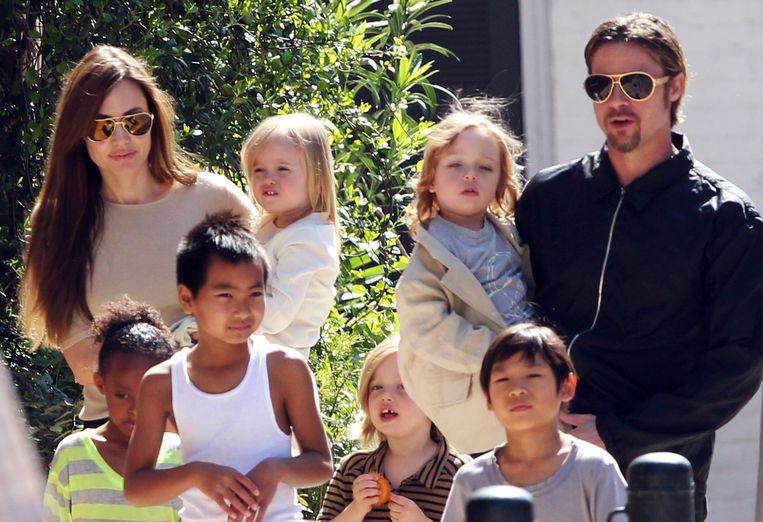 Een foto uit 2011, toen Angelina en Brad nog gelukkig samen waren.