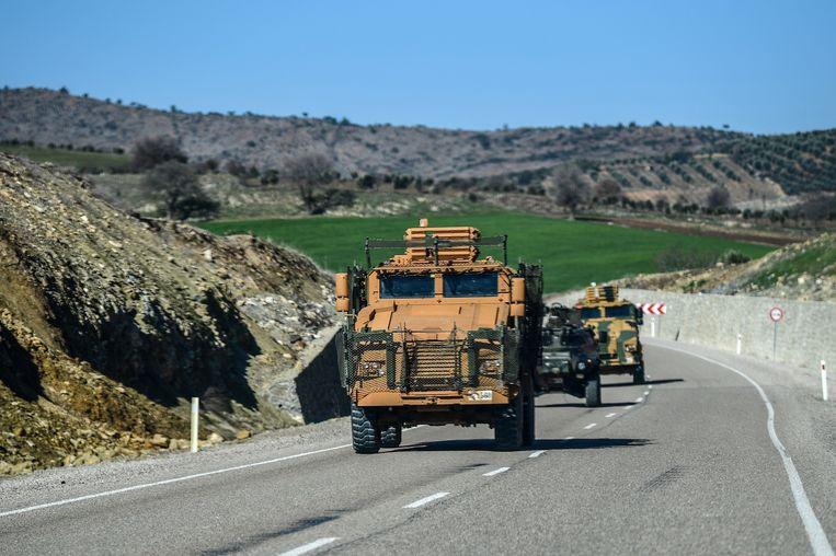 Een Turks militair konvooi.