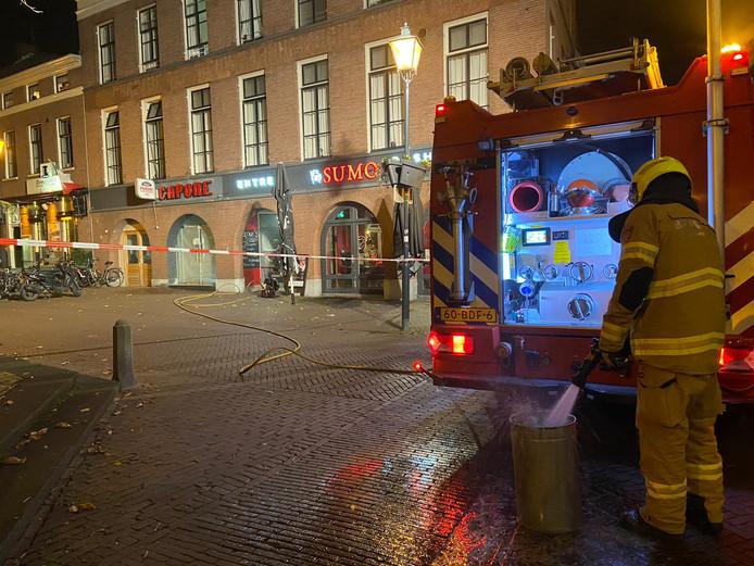 De brandweer heeft het vuur geblust.